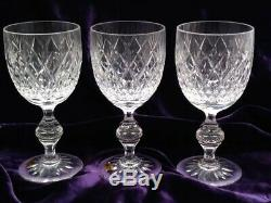 11 Tharaud Designs Crystal Water Goblet/Large Wine Set of 11
