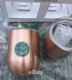 2018 Masters Set Copper Wine Glasses Insulated Augusta National Limited