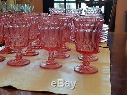 44 piece set NORITAKE PINK PERSPECTIVE Wine, water, champagne/sherbet, plates