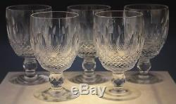 5 Waterford Irish Crystal Colleen Short Stem Large Claret Wine Glass Set