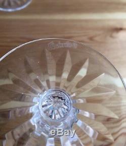 6 Waterford Ireland Cut Lead Crystal EILEEN White Wine Glasses Set Stems 5