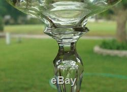 9 Antique Saint Louis Micado Etched Crystal Wine Glasses c1930 Beautiful Set
