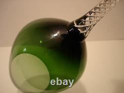 AIR TWIST STEM by Unknown Manufacturer GREEN WINE GLASSES 8 1/2 SET / 6