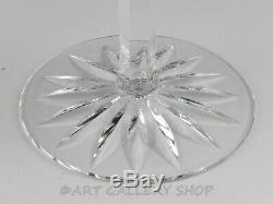 Ajka Crystal Cut To Clear CAROLINE 8-1/4 WINE HOCK GOBLETS MULTI COLOR Set of 4
