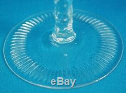 Ajka Marsala Bohemian Cut Crystal Wine Goblet 8 1/4 Set of 4