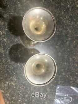 Amazing Quality Set Of 2 Vintage Gorham Sterling Silver Wine Goblets Glasses N/r