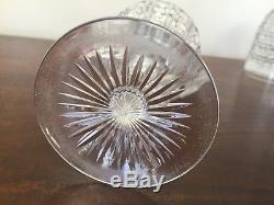 Antique ABP Brilliant Cut Glass Cane & Fan Water Wine Goblet Set of 6