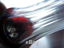 Antique Bohemian Crystal Cut Ruby to Clear Wine decanter/Carafe set Josefodol