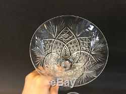 Antique French St. Louis Cristal Crystal Set of 6 Wine Glasses