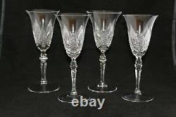 Antique Set 4 Cut Glass Crystal Wine Champagne Goblets Gorgeous Details