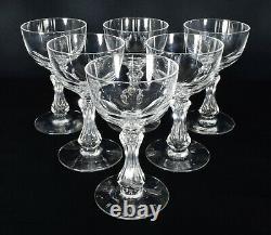 Antique Victorian Wine Glasses Set x6 Late 19thC