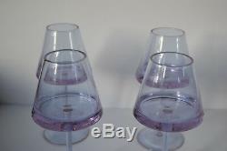 Art Deco Alexandrite Neodymium Set Of 4 Wine Glasses