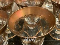 Arte Italica Crystal Medici Gold Wine Glasses Set of 9