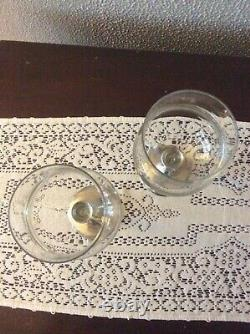 Arte Italica Glass & Pewter Wine Glasses Small Set Of 2 3 Sets Available