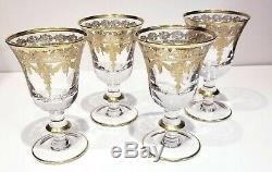 Arte Italica Set of 4 Vetro Gold Wine Glass SR19B/SOZ