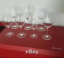 BACCARAT Champagne, Wine, Cordial GIFT SET in Original Box (7 Glasses)