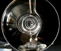 BACCARAT France Crystal ST. REMY Claret Wine Glasses 7 3/4Set Of 8