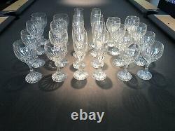 BACCARAT MASSENA Set (8) Water Glasses, (8) Wine Glasses, (8) Champagne Flutes