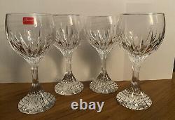BACCARAT Massena 7 Wine Set Of 4 Glasses BEAUTIFUL