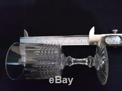 BACCARAT Nancy forme Cylindrique Set 6 Crystal Wine 4 7/8 12.5cm early XX