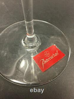 BACCARAT Set of Six Tulip-Shaped Clear Crystal ST. REMY Wine Glasses 8.5