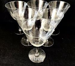 BEAUTIFUL EDWARDIAN CRYSTAL WINE GLASSES Set of 6 c1910