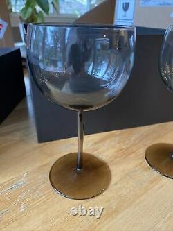 BOTTEGA VENETA Red Wine Glasses-NEW In Box-set Of 2 Glasses $460 (Have 3 Sets)