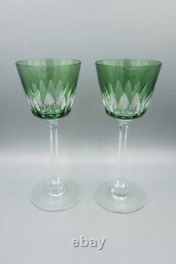 Baccarat Crystal France Lavandou Colored Rhine Wine Hock Set 6 -7.5 H FREE SHIP