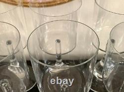 Baccarat Crystal Jose Pattern Wine Glasses Set of 8 Designed by Boris Tabacoff