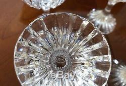 Baccarat Crystal Massena Claret Wine Glasses set of 6 mint