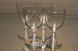 Baccarat Crystal Set Of 4 (4) Angouleme Port Wine / Cordial Glasses Mint