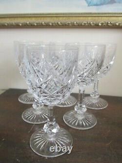 Baccarat France Crystal Colbert Set Of 6 Wine Glasses 5 1/8