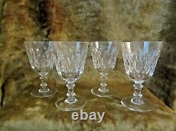Baccarat France Set of (4) Crystal Wine Glasses Armagnac Pattern