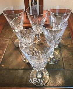 Baccarat French Crystal Wine Water Goblets Glasses Carcassonne Set Of 6