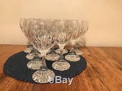 Baccarat Massena 7 1/2 Wine or Water Glasses (Set of 10)