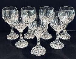 Baccarat Massena Crystal Claret Wine Glasses Set Of 7