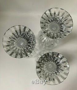 Baccarat Massena Wine/Water Crystal Goblets 7 Set of 3 Timeless Beauty