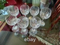 Baccarat Messena Clear White Wine Goblets Set of Six. Beautiful Collection