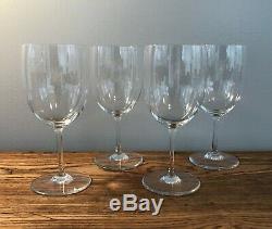 Baccarat Perfection Claret Wine Goblet Glasses Set of 4