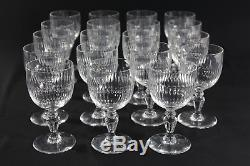 Baccarat Renaissance Pattern Set of 19 White Wine Stems, Anne Anka Estate