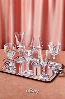 Baccarat Wine Therapy Set of 6 Assorted Clear Crystal Wine Glasses New Orig $890