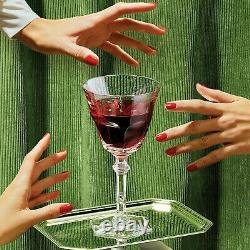 Baccarat Wine Therapy Set of 6 Crystal Wine Glasses New in Box. Retail Cost $890