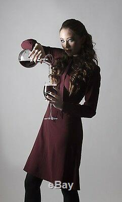 Barski Set/5 European Carafe with 4 Red Wine Glasses- with Swarovski Diamonds