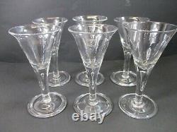 Blenko Colonial Williamsburg Set Of 6 Teardrop Wine Glasses 6 1/4