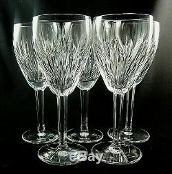 CARINA by Waterford Crystal CLARET WINE GLASSES 7 1/8 Set of 5