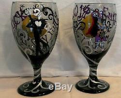 CUSTOM Nightmare Before Christmas HAND PAINTED Wine Glasses/Wedding Toasting Set