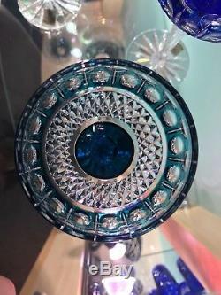 Caesar Czech Bohemian Crystal Glass Handmade Color Wine Wineglass Gift Set NEW