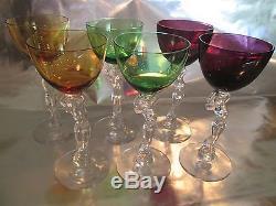 Cambridge Glass Nude Stem Wine Glass Set of 6
