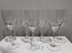 Carlo Moretti Murano Italy Set Of 7 Art Glass Wine Stems Glasses Signed