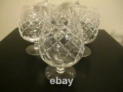 Cartier Set Of 8 Heavy Crystal Glass Extra Large Brandy Snifters